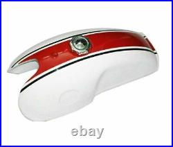 Fuel Tank With Seat White Cherry Painted Benelli Mojave Cafe Racer 260 360