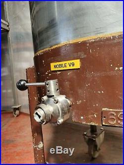 GIUSTI Stainless steel tank vessel mixing 300 litre, mobile, drain valve