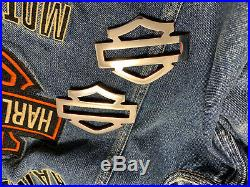 Harley CVO custom tank emblems, mirror polished stainless steel