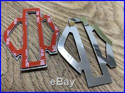 Harley CVO custom tank emblems, stainless steel
