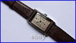 LIEMA Waterproof art deco stainless steel Tank vintage watch handwinder