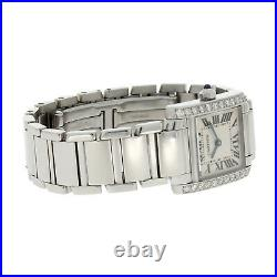 Ladies Cartier Ladies Tank Francaise Steel Diamond Set 2384