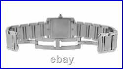 Ladies' Cartier Tank Francaise 2465 Stainless Steel Date Quartz 25MM Watch