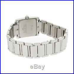 Ladies Cartier Tank Francaise Midi Stainless Steel Diamond Set Case 2465