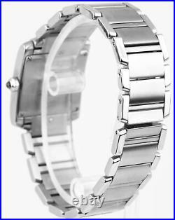 Ladies Cartier Tank Francaise Midsize 2465 Stainless Roman Quartz Date W51011Q3
