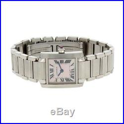 Ladies Cartier Tank Francaise Mother of Pearl Dial W51028Q3