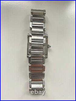 Ladies Cartier Tank Française Stainless steel Swiss Quartz Watch 2384
