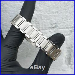 Ladies Stainless Steel Cartier Tank Francaise Rare Motif Dial