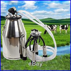 NEW Portable Cow Milker Milking Machine Bucket Tank Barrel 304 Stainless Steel
