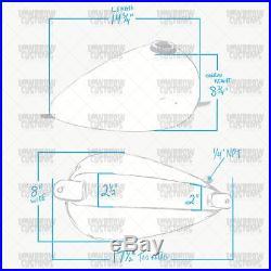 Narrow Axed Gas Tank 1.9 gal bobber chopper Sportster Harley xs650 Triumph slim