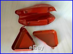 Norton Commando Roadster Red Painted Petrol Tank With Side Panel Guaranteed