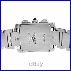 Not Working Unisex Cartier Tank Francaise Chronoflex 2303 Steel 28MM Watch