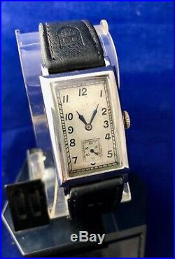 Omega Vintage Tank T17 Staybrite Art Deco Rare Stainless Steel Gents Watch