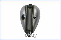 Raw 2.2 Gallon Chopper Wasp Peanut Gas Tank Single Cap Harley Ironhead XS650 Pan
