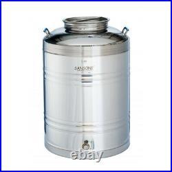 Sansone Stainless Fusti Tank 100 L (26.4 gal) Fermenter Beer Wine Moonshine