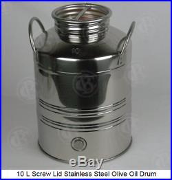 Stainless Steel Fermenter Beer, Wine, Moonshine Milk Can Olive Oil Tank 10L-100L
