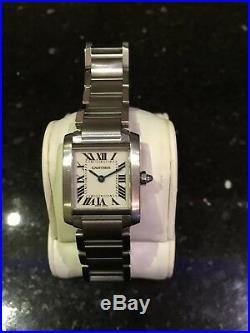 Stunning Ladies Cartier Tank Francaise 20mm Stainless Swiss Quartz Watch 2384