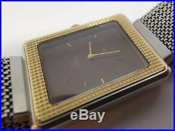 Super rare OMEGA De Ville Tank watch 1110136 18k sold gold bezel