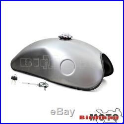 Tank 10L/2.6 Gallon Gas Fuel Tank Protector For Honda Suzuki Yamaha Cafe Racer