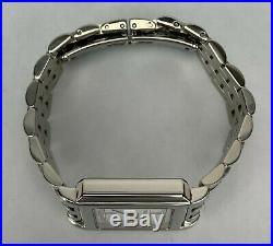 Tiffany & Co. Ladies Stainless Steele Tank Square Quartz Watch