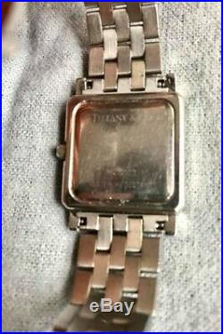 Tiffany & Co. Womens Vintage Tank Watch Stainless Steel Square Face