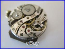 Vintage 1934 Bulova President Wandering Second Watch 10K Gold Filled Tank Style
