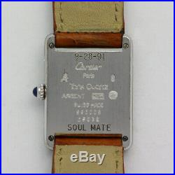 Vintage Stainless Steel 23mm Must de Cartier Tank 690006 Wristwatch