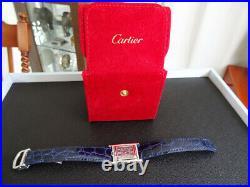 Women Cartier Reverso Basculante Tank Quartz Ref 2386 Grey Mint
